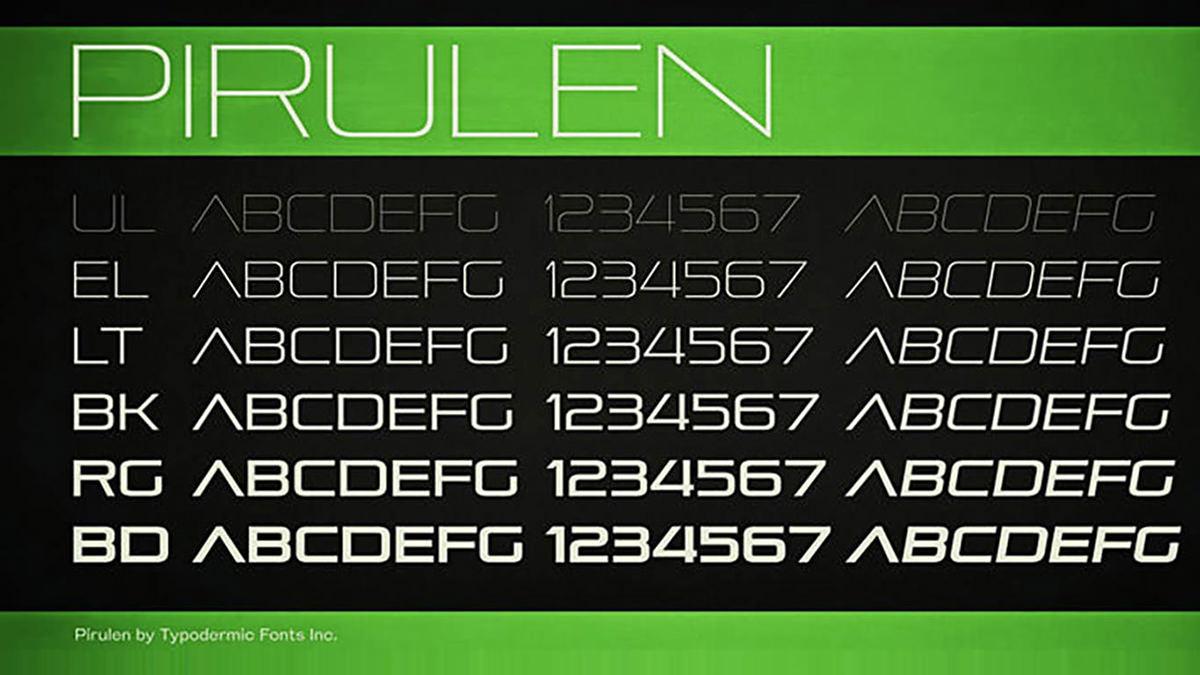 Pirulen font-free-font
