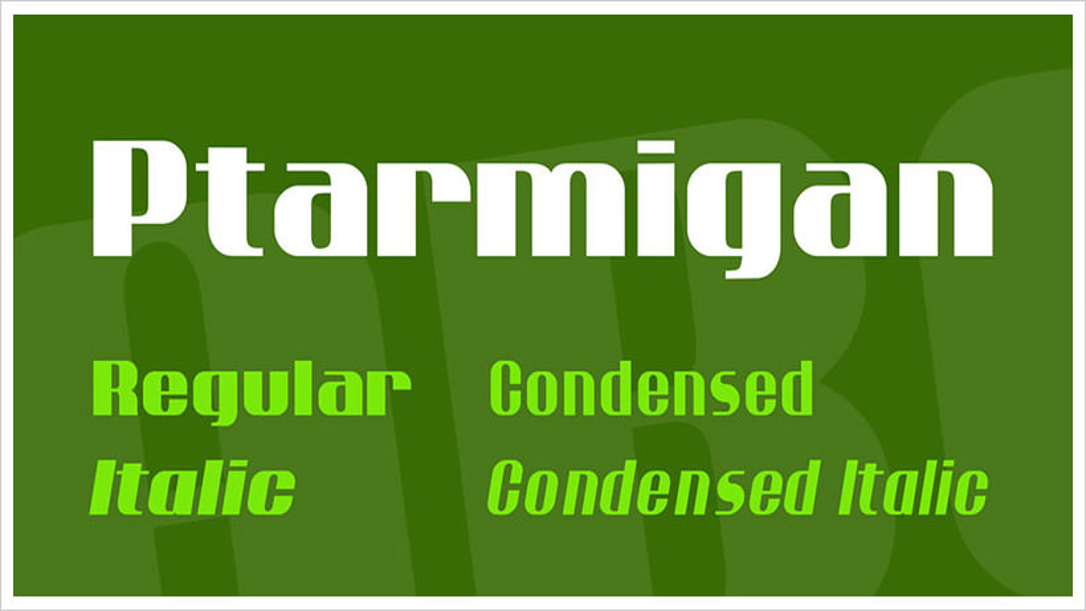 Ptarmigan-free-font