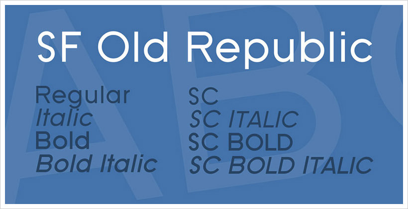 SF Old Republic-free-font