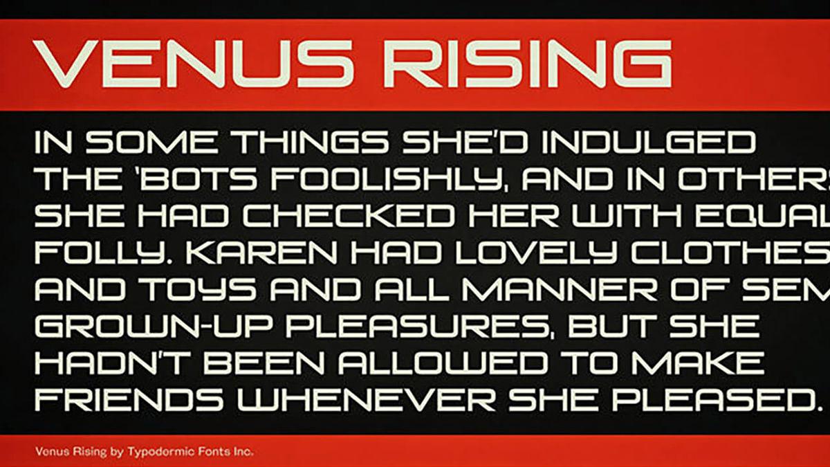 Venus-Rising-free-font