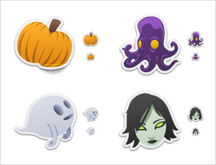 Spooky Stickers by David Lanham
