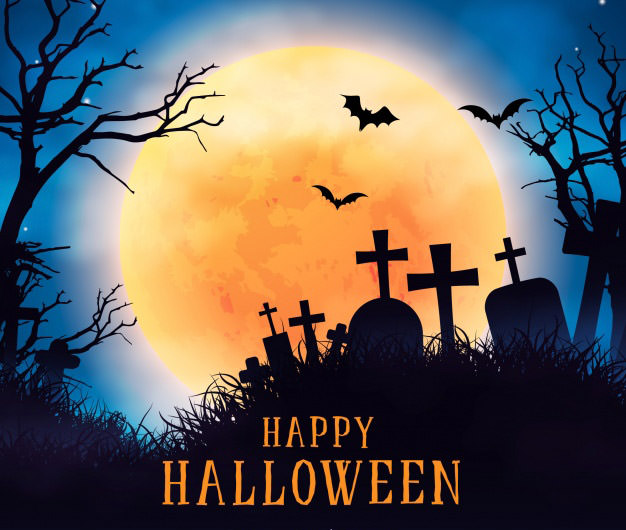halloween realistic background