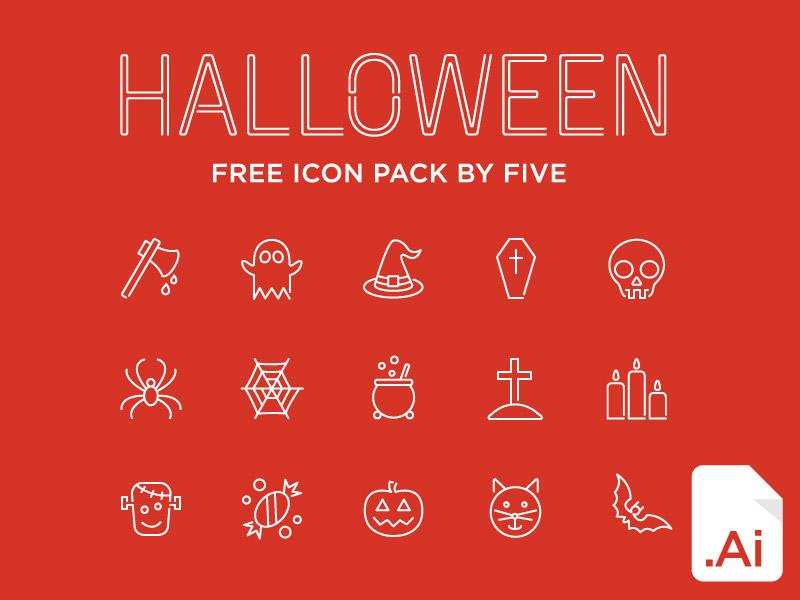 БЕСПЛАТНЫЙ набор значков Хэллоуина от FIVE