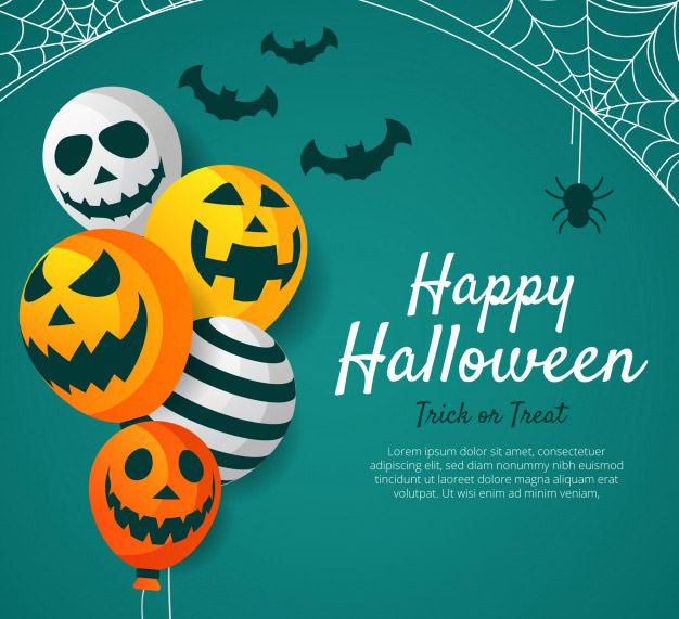 halloween flat design