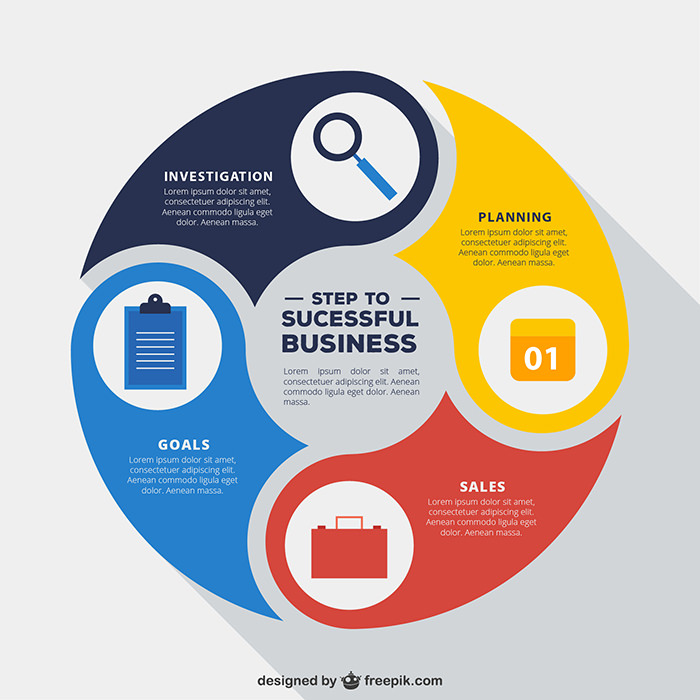 rounded-infographic-business