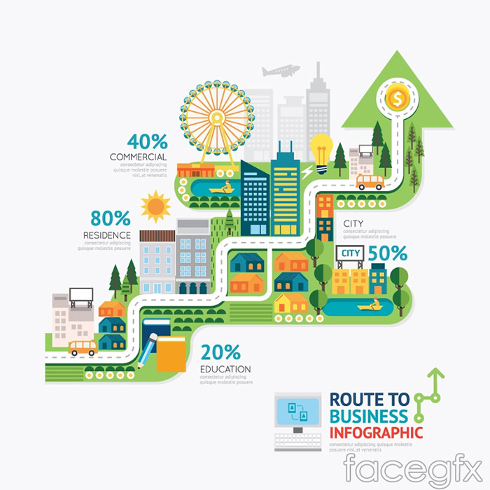 creative-business-route-information-map