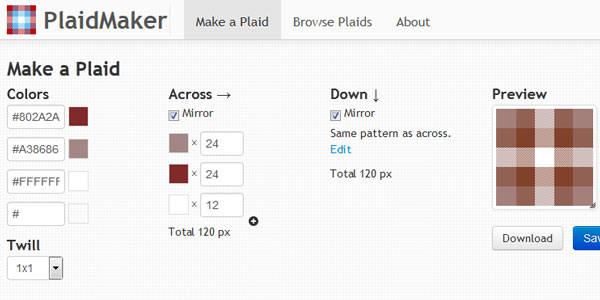 PlaidMaker-pattern-generator