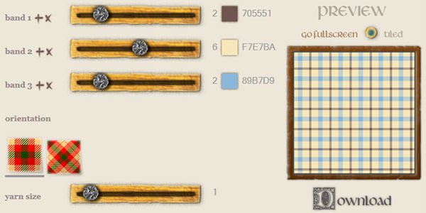 Tartanmaker-pattern-generator