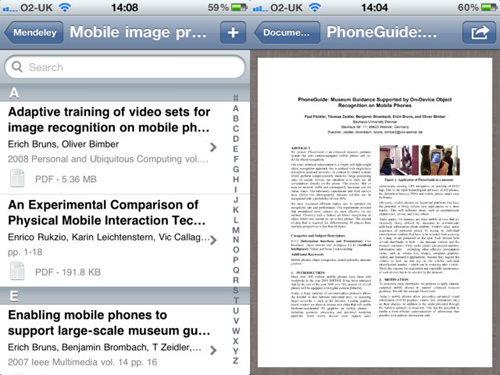 Mendeley for iPhone and iPad
