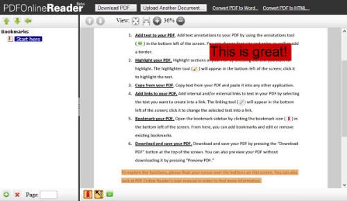 PDFOnlineReader for Web