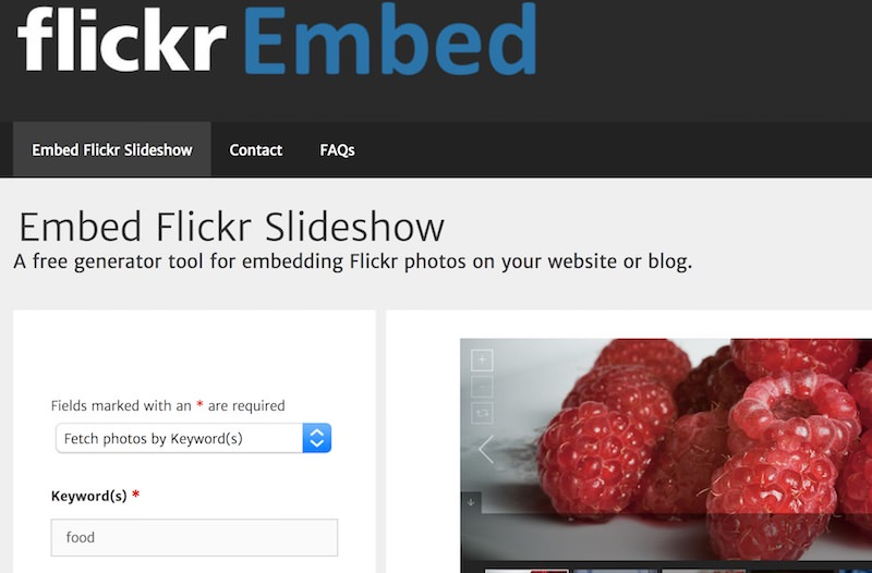 flicker-embed