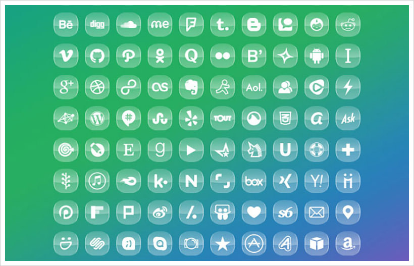 Glossy and Transparent Icons