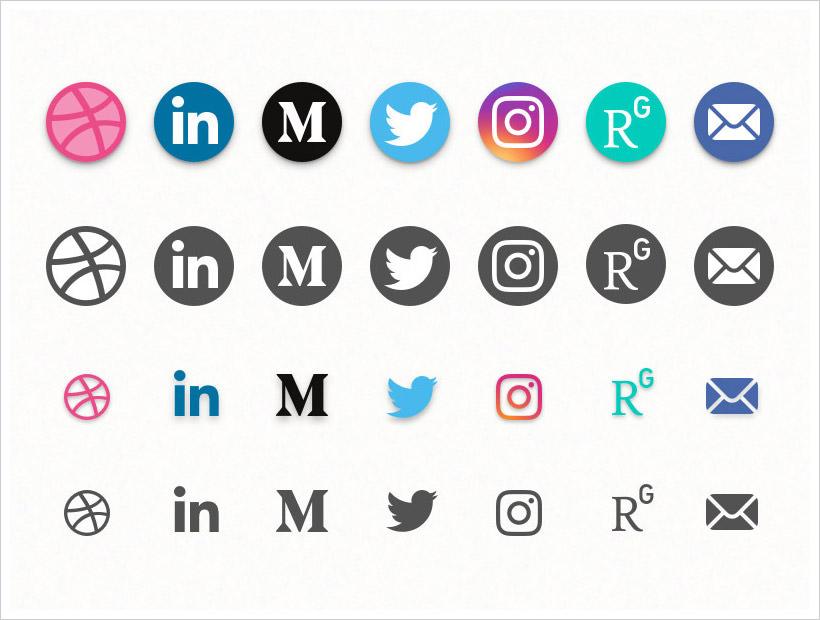 Social Media Icons Freebie