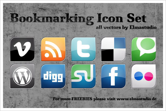 Bookmarking Icon Set