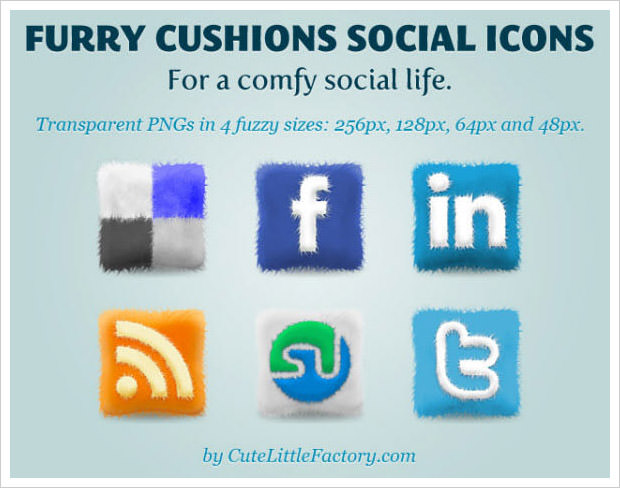 Furry Cushions Icon Set