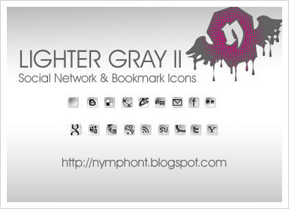 Lighter Grey Icon Set