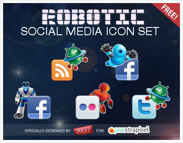 Robotic Icon Set