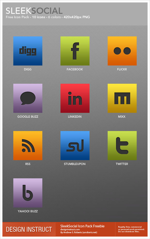 SleekSocial Icon Set