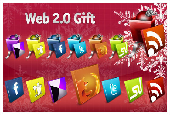 Web 2.0 Gift Icon Set