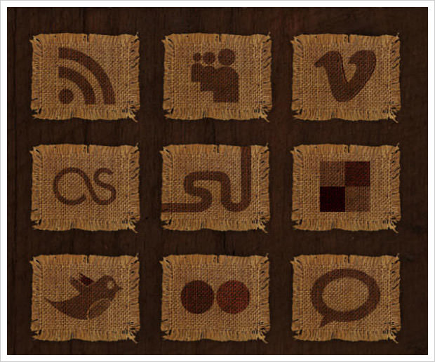 Woven Fabric Icon Set