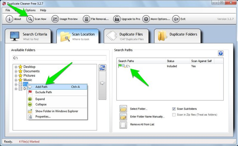 duplicate file path