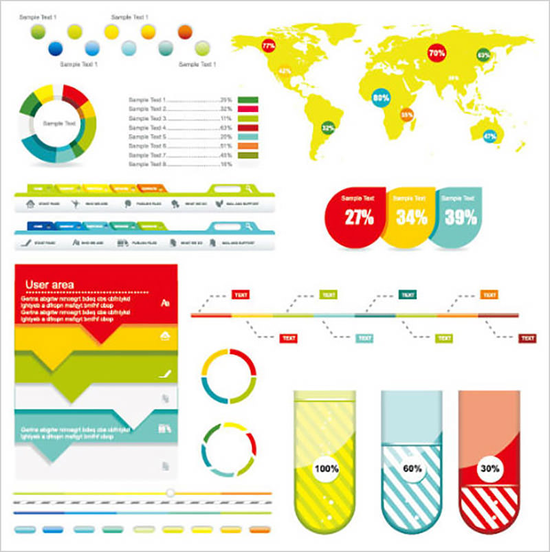 Economy Infographics Design Elements