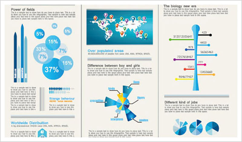 Set of Chart & Infographics Design Elements