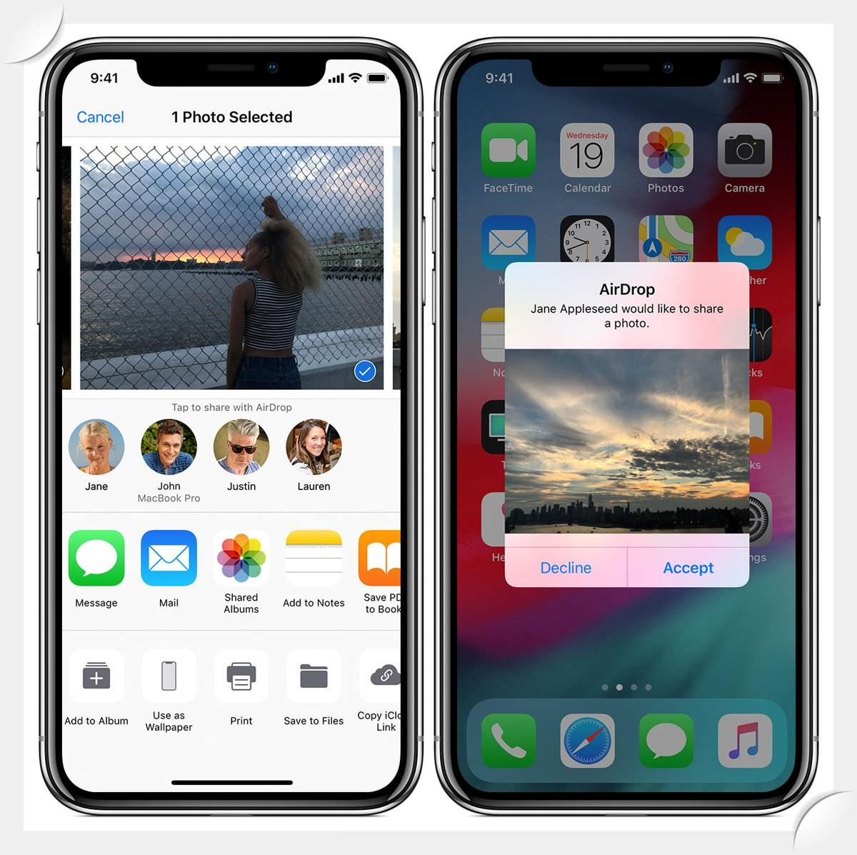 AirDrop is a file-sharing feature from Apple