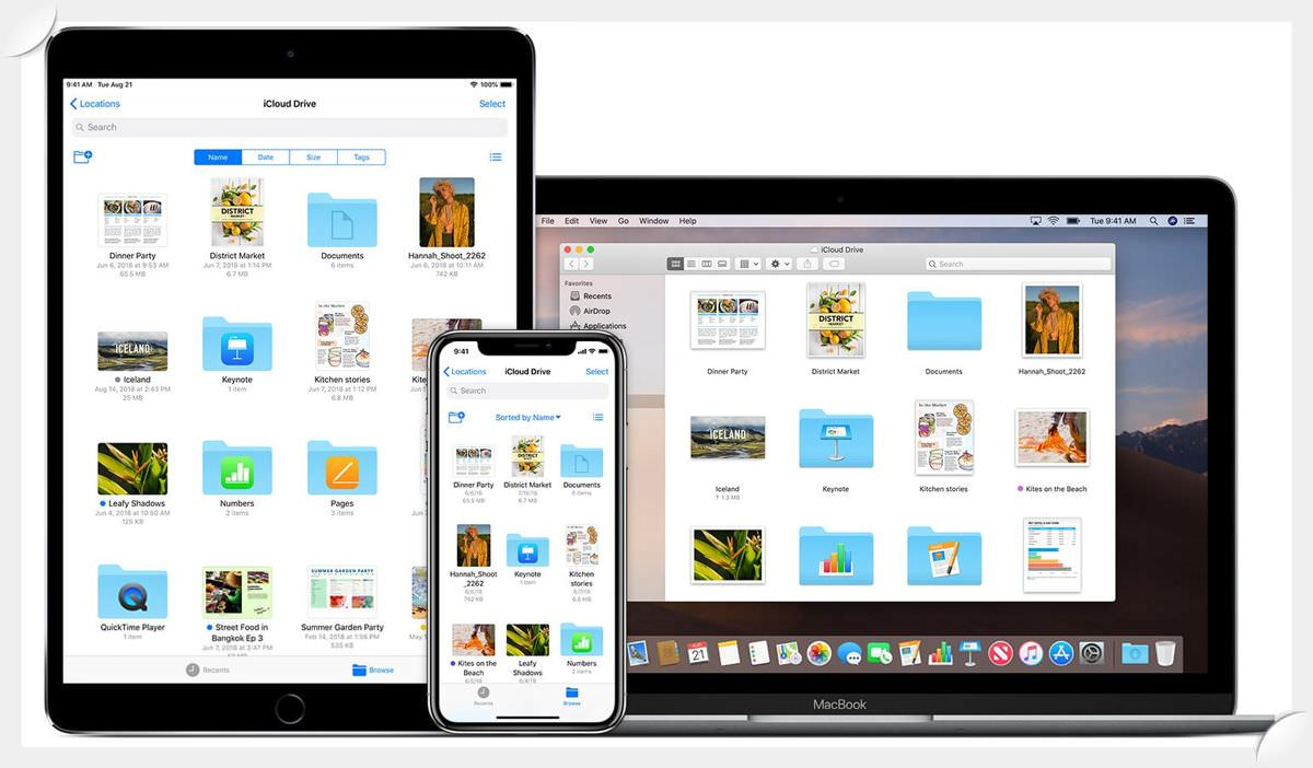 iCloud Drive is a cloud storage service from Apple