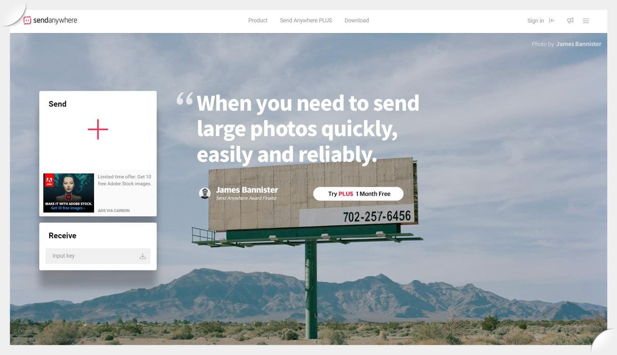 Send Anywhere is a web-based file-sharing service