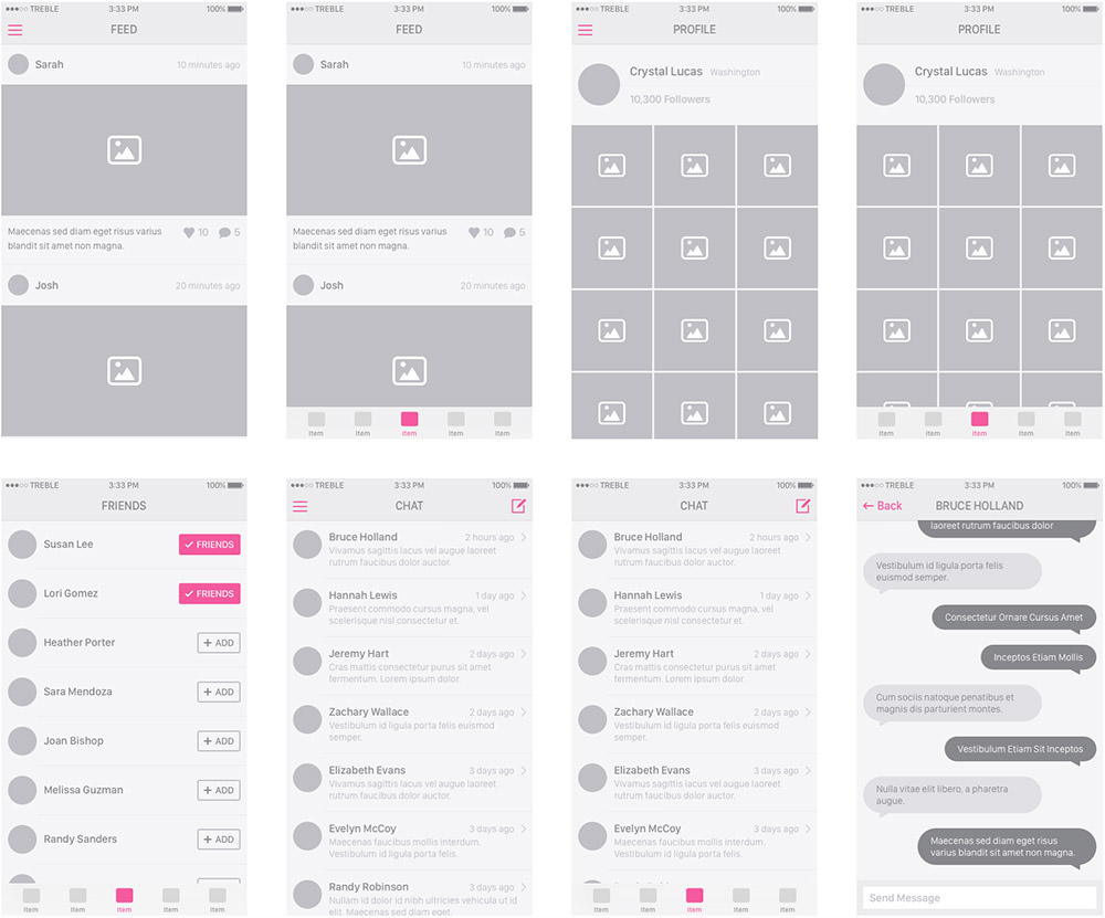 Snap Wireframe Kit