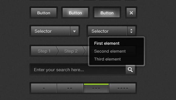 black user interface