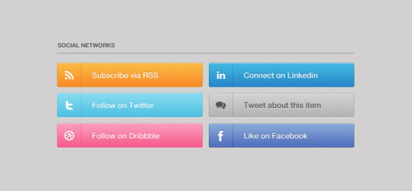 marketplace/social networking buttons