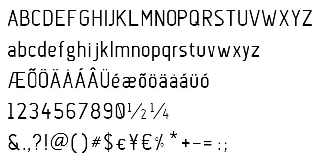 Anson: Sans Serif Aircraft-inspired Font