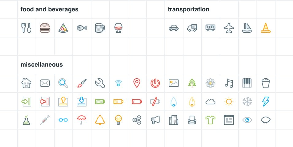 Bitsies: Line Color Vector Icons Set