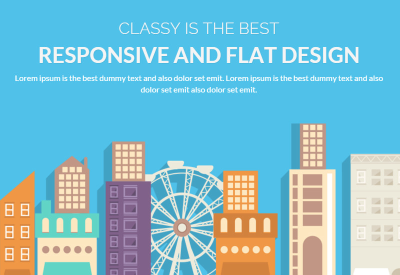 ClassyLite: Flat Business WordPress Theme