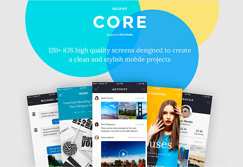 Core: Colorful iOS UI Kit
