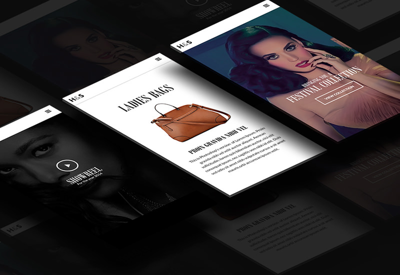 H&S: ECommerce Fashion Web Layout Concept
