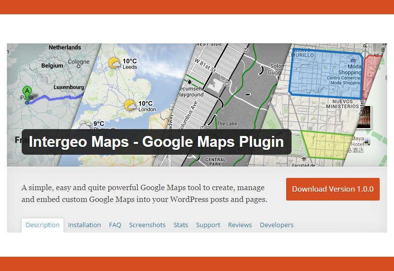 Intergeo Maps: Google Maps Plugin WordPress Plugin
