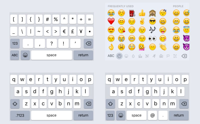 iOS 9 Sketch Keyboard Kit