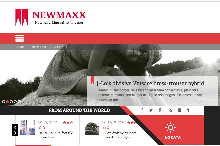 New Maxx: WordPress Theme