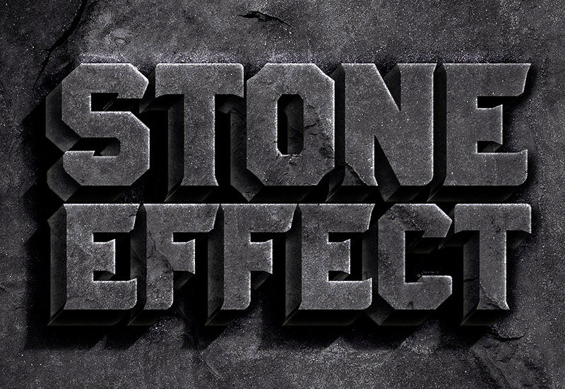 Stone Photoshop Text Effect