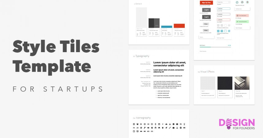 Style Tiles: Sketch App Template for Startups Design