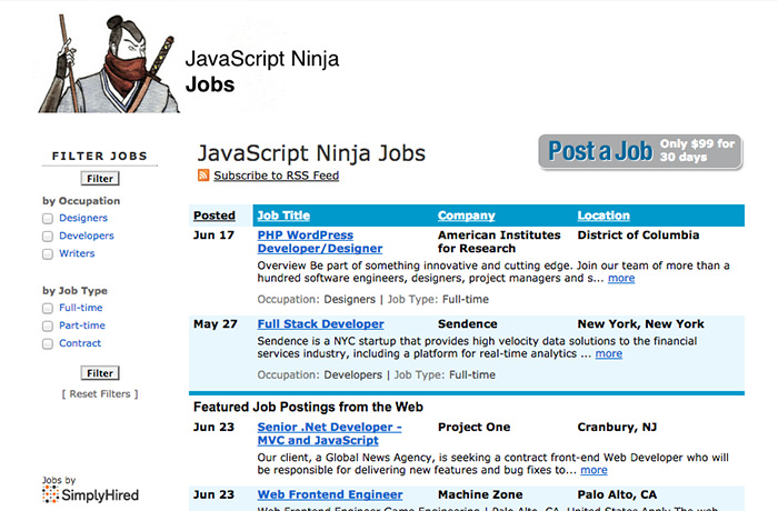 lance job sites for designers programmers best of  jsninja jobs