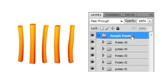 How to Make a Delicious French Fries Icon in Photoshop