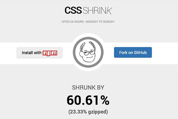 css shrink