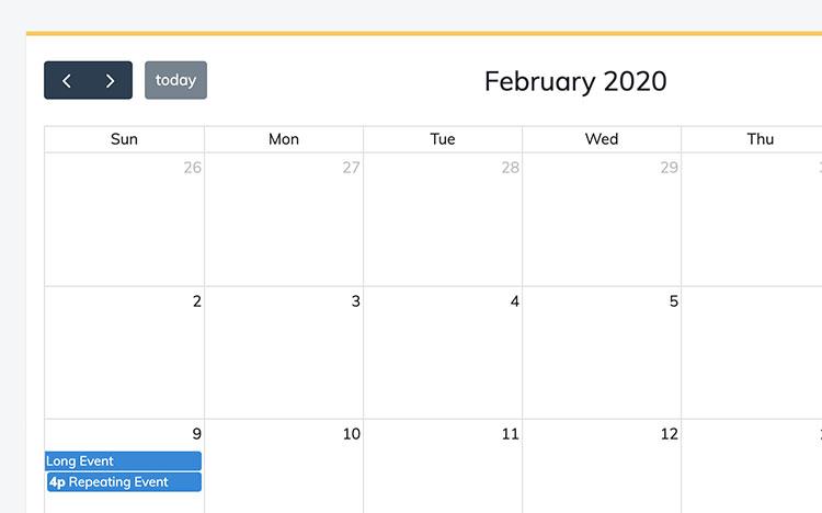 Full calendar demo