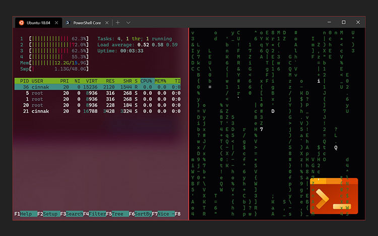 Windows terminal with Ubuntu