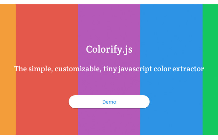 JavaScript library for extracting color in an image