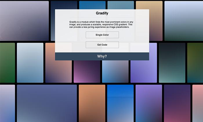 GradifyCSS: gradient generator